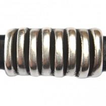 Zilver Leerschuiver Ø10x6mm metaal zilver DQ 26x14mm