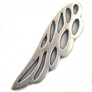 Zilver Bedel vleugel metaal zilver DQ 37x12mm