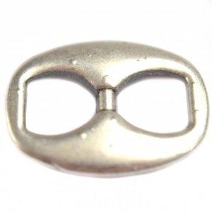Zilver Tussenzetsel knoop metaal zilver DQ 23x29mm