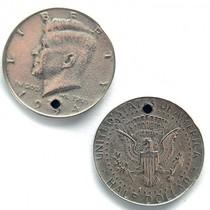 Zilver Bedel munt Half Dollar metaal zilver DQ 29mm