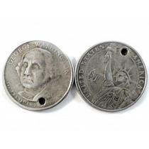 Zilver Bedel munt 1 Dollar metaal zilver DQ 26mm