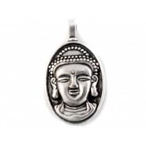 Zilver Bedel buddha metaal zilver DQ 15x29mm