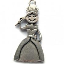 Zilver Bedel princes klein metaal zilver DQ 22mm