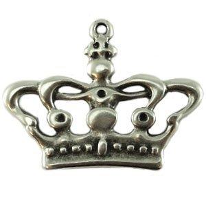 Zilver Bedel kroon klein metaal zilver DQ 22x27mm