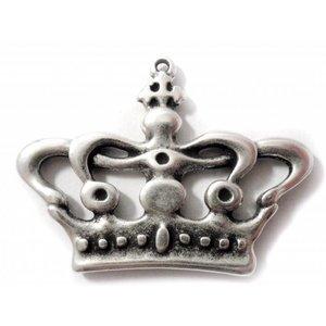 Zilver Bedel kroon metaal zilver DQ 60x44mm