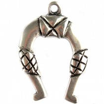 Zilver Bedel hoefijzer metaal zilver DQ 42x30mm