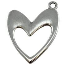 Zilver Bedel hart metaal zilver DQ 25x17mm