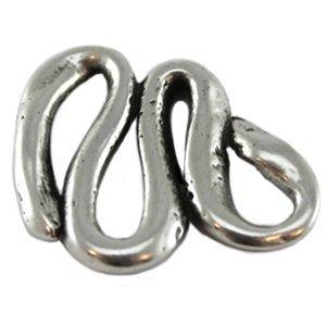 Zilver Tussenzetsel slang metaal zilver DQ 29mm