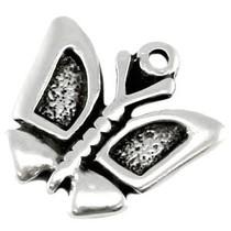 Zilver Bedel vlinder metaal zilver DQ 20mm