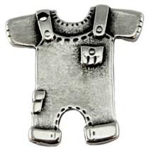 Zilver Bedel tuinbroekje metaal zilver DQ 23mm
