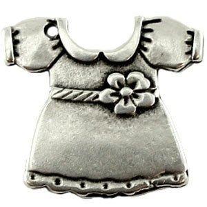 Zilver Bedel jurkje metaal zilver DQ 20mm