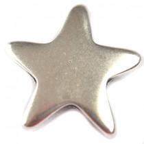 Zilver Bedel ster metaal zilver DQ 22x23mm