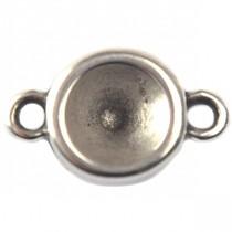 Zilver Tussenzetsel voor SS39 swarovski metaal zilver DQ 20x12mm