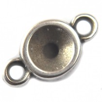 Zilver Tussenzetsel voor SS29 metaal zilver DQ 14x8mm