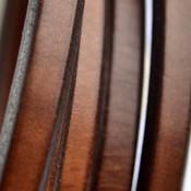 Bruin Ovaal leer 10x6mm bruin