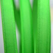 Groen Ovaal leer 10x6mm fluor groen