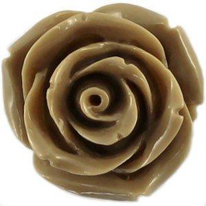 Bruin Kraal roosje camel bruin 22mm