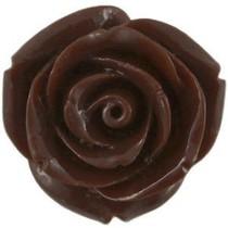 Bruin Kraal roosje klein donker bruin 11mm