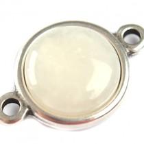 Wit Cabochon natuursteen witte jade 16.4mm