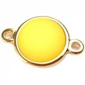 Geel Cabochon polaris neon geel 11.5mm