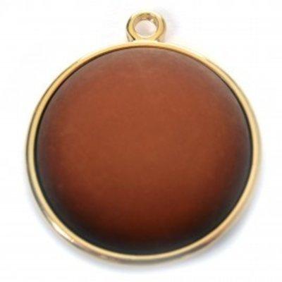 Bruin Cabochon polaris cognac 16.4mm