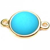 Blauw Cabochon polaris mat neon blauw 20mm