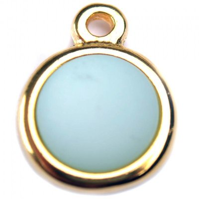 Blauw Cabochon polaris aquamarine 35mm