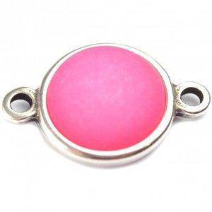 Roze Cabochon polaris neon roze 35mm