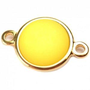 Geel Cabochon polaris neon geel 35mm