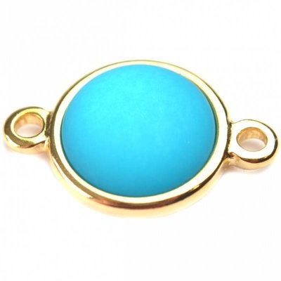 Blauw Cabochon polaris neon blauw 35mm