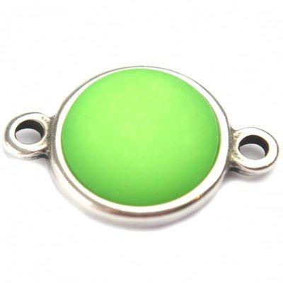 Groen Cabochon polaris neon groen 35mm