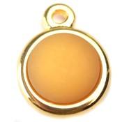 Geel Cabochon polaris mat oker geel 11.5mm