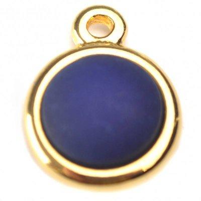 Blauw Cabochon polaris mat hollands blauw 11.5mm