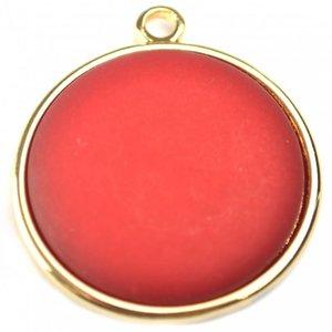 Rood Cabochon polaris mat wijn rood 35mm
