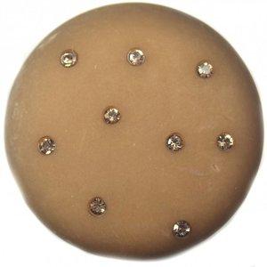 Bruin Cabochon polaris mat swarovski taupe 35mm