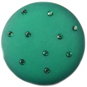 Groen Cabochon polaris mat swarovski emerald groen 35mm