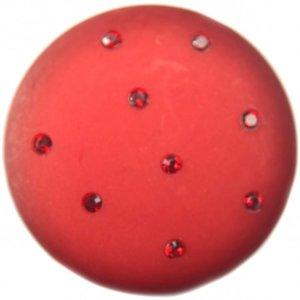 Rood Cabochon polaris mat swarovski wijn rood 35mm