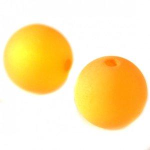 Oranje Polaris kraal mat oranje 12mm