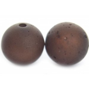 Bruin Polaris sweet kraal donker smoked topaz 12mm