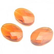 Bruin Quartz hand geslepen kralen ovaal topaas oranje bruin 14x10mm