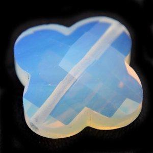 Wit Quartz hand geslepen kralen klaver crystal opaal 15mm
