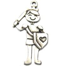 Zilver Bedel prins klein metaal zilver DQ 22mm
