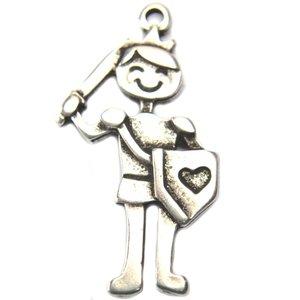Zilver Bedel prins groot metaal zilver DQ 41mm