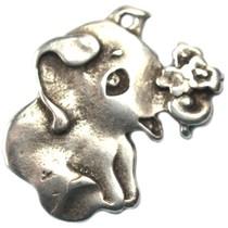 Zilver Bedel olifantje metaal zilver DQ 18mm