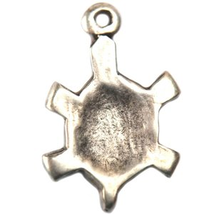 Zilver Bedel schildpad metaal zilver DQ 25mm