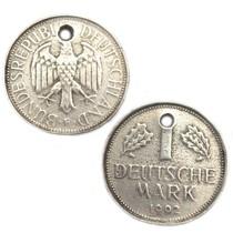 Zilver Bedel munt 1 Duitse Mark metaal zilver DQ 23mm