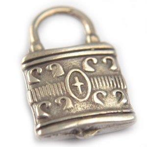 Zilver Bedel slot metaal zilver DQ 21mm