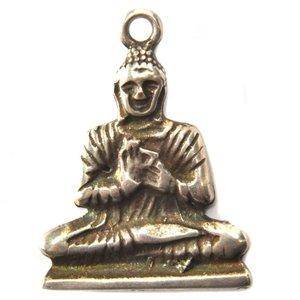 Zilver Bedel buddha metaal zilver DQ 28mm