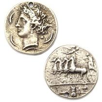 Zilver Bedel munt metaal zilver DQ 31mm