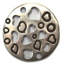 Zilver Tussenzetsel met hartjes metaal zilver DQ 32mm